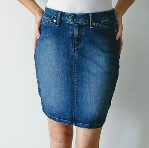 Levi's jean skirt dark wash